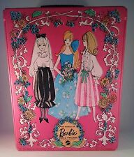 Vintage Mod Barbie Pink World Of Barbie Doll Trunk Circa 1969 VTG Made In USA