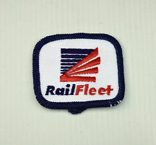 VINTAGE RAIL FLEET EMBROIDERED SOUVENIR PATCH WOVEN SEW-ON CLOTH BADGE