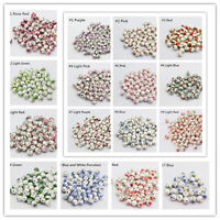 10pcs Elegant Ceramic Round Porcelain Loose Spacer Big Hole Beads Jewelry