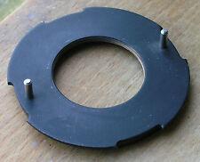 "m39 enlarger bronze mount  3"" diameter , 70mm  rear stub"