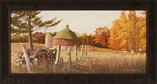 FORGOTTEN TIMES by Robert Schmidt 19x36 FRAMED PRINT Round Barn Tractor PICTURE