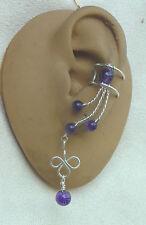 Amethyst Ear Cuffs earcuff pair #73AMY3