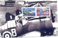 Australia-Pacific War 1942-mnh sheet fighter planes mnh-Military Aviation
