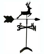 deer roof mount weathervane black wrought iron handcrafted in usa