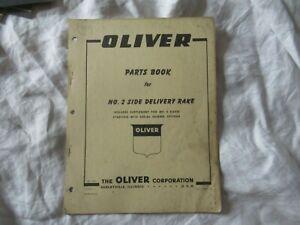 1960 Oliver no 2 side delivery rake parts book catalog manual