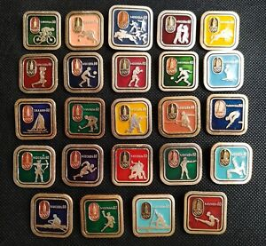 1980 XXII Olympic Games Moscow 80 Full Set 24 pcs Pin Badge Boxing Sport USSR ☭