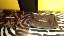 Danier Black Leather Purse Handbag Good Condition with Storage Bag