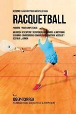 Recetas para Construir Musculo para Raquetbol, para Pre y Post Competencia :...
