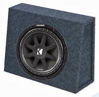 "Kicker 43C104 10"" 300W 4-Ohm Car Audio Subwoofer Sub + Slim Shallow Truck Box"