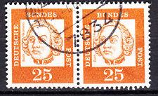 BRD 1961 Mi. Nr. 353 Fl. Papier Paar Gestempelt LUXUS!!! (17774)