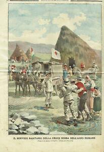 Croce Rossa Tribuna Illustrata della Domenica - Corpo Militare CRI Malaria