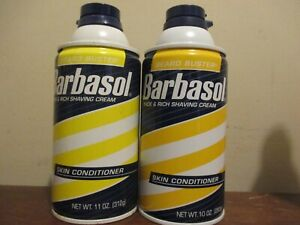 2x BARBASOL THICK & RICH SHAVING CREAM BEARD BUSTER skin conditioner 11 oz