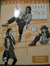 Share the Music Grades K-6 Master Index Teacher Edition (1998, Softcover)