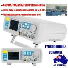 FY6800 60MHz 2 Channel DDS Function Signal Generator Waveform AM/FM/PM/ASK/FSK.