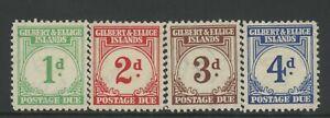 GILBERT & ELLICE IS., MINT, J1-4, OG NH, CLEAN SOUND & CENTERED