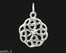 Celtic Knot round Charm Sterling silver 925 charmmakers 3D