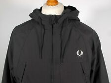 """Fred Perry Steel Grey Panelled Hooded Parka - L XL 46"""" - Scooter Mod Terraces"""