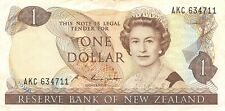 New Zealand  $1  ND. 1985  P 169b  Series  AKC  Que. II  Circulated Banknote DNZ