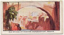 Ottoman Bridge Neretva River Mostar Bosnia Herzogovina 1930s Ad Trade Card