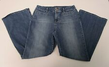 So Slimming Chico's Jeans Girlfriend Flare Stretch Button Zip Fly Womens Size 1P