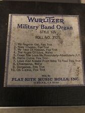 Wurlitzer Military Band Organ Roll (1927), Style 125, Roll #3121