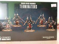 Warhammer 40K Chaos Space Marines Terminators  NEW SEALED