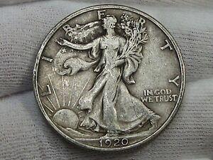 VF 1920 Walking LIBERTY Half Dollar.  #42