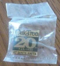 "Oak Tree 20TH 1969-1988 Santa Anita Horse Racetrack Pin 7/8"" square"
