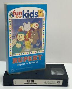 Very Rare Children's 90s - VHS Video - Rupert In Toyland 1997 - 'Fun For Kids'