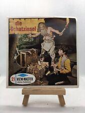 3 View Master Reels - Die Schatzinsel - Stevenson- B432-D - RAR - 🎞️