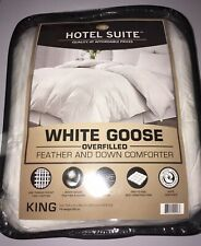 New Hotel Suite (King) White Goose Feather & Down Overfilled Comforter