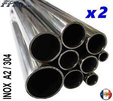 ( Lot de 2 Tubes ) Tube inox 20mm x 1,5mm x 1 Mètre Polimiroir inox 304 - A2