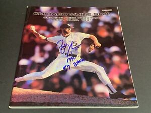 Bobby Thigpen White Sox Autographed Signed Opening Week Program 1991