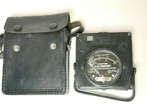 Vintage Electrophot Rhamstine Photo Electric Exposure Meter With Leather Case