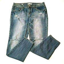 Dollhouse Juniors Jeans Size 13 Skinny Blue Ripped Torn Distressed Denim