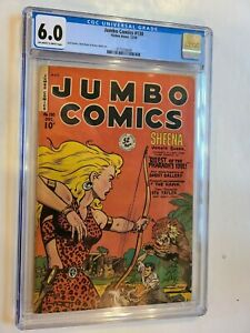 JUMBO COMICS # 130 FICTION HOUSE 1949 CGC 6.0 CLASSIC MATT BAKER ART