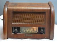 Antique Teletone Radio Model 100 Wood  Vintage Table NOT WORKING