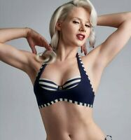 Haut de maillot de bain 90C (75C eu) balconnet Marlies Dekkers Marinière Bleu ma