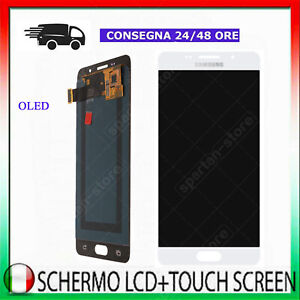 DISPLAY LCD TOUCREEN OLED SAMSUNG GALAXY A5 2016 SM-A510F VETRO SCHERMO BIANCO