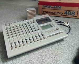 Tascam Portastudio 488 Cassette 8-Track Recorder + 8 Chrome Tapes + Manual Boxed