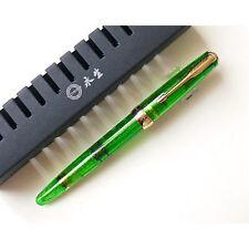 Wing Sung 618 Piston Fountain Pen Fine Nib 0.5mm Green color