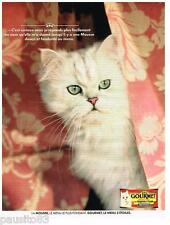 PUBLICITE ADVERTISING 095  1991  GOURMET aliment pour chat   la mousse