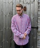 Ralph Lauren XXL Colourful Pink Shirt Men's Check Thick Lumberjack Overshirt