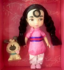 "DISNEY ANIMATORS' COLLECTION MINI DOLL 5"" MULAN w/LITTLE BROTHER DOG TOY FIGURE"