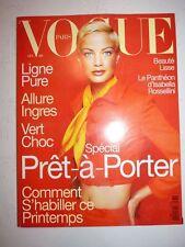 Magazine mode fashion VOGUE PARIS #764 février 1996 cover Carolyn Murphy