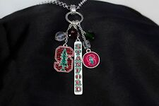 Stanford University Cluster Charm Silver Plated Necklace Officially Licensed
