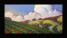 Art Painting Impressionism California Craftsman Vineyard Light Signed Wm Hawkins