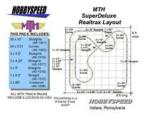 MTH REALTRAX SUPER DELUXE TRACK LAYOUT 9'x9' O GAUGE pack train design NEW