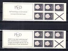 Nederland postzegelboekjes 6c en 6d postfris