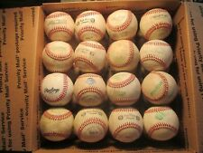 Lot of (32) Used Leather Baseballs with Defects (#4)